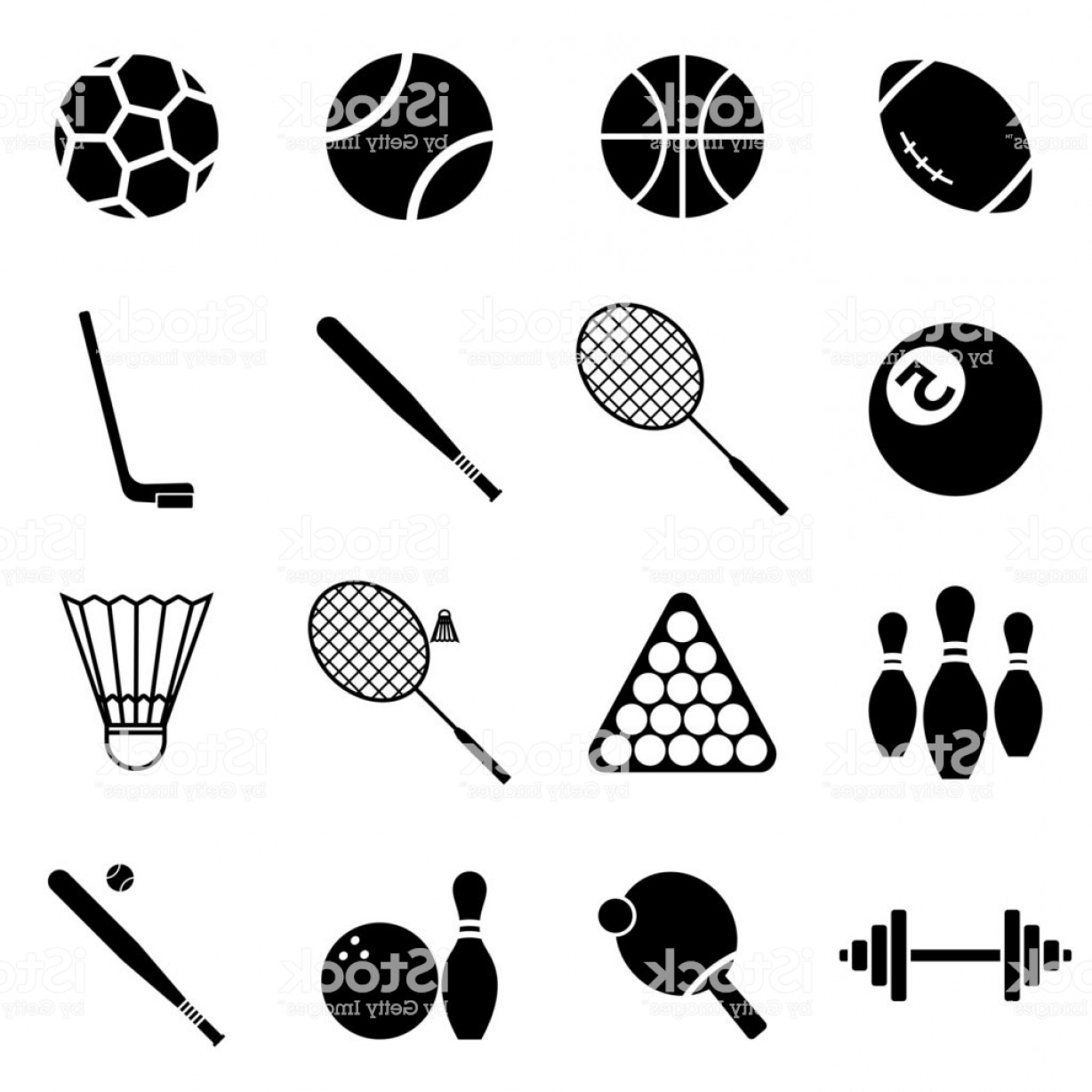 Sport Vector Art Games: Icons Set Sports And Games Vector Gm