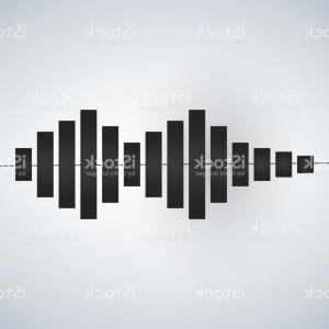 Frequency Icon Vector: Medium Frequency Wave Icon Flat Style