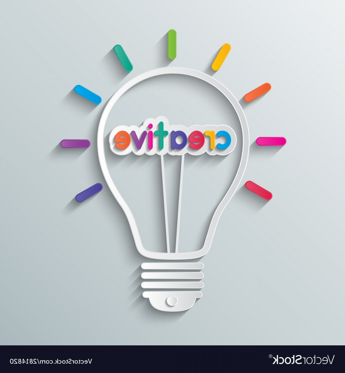 Creative Light Bulb Vector: Idea Creative Light Bulb Vector