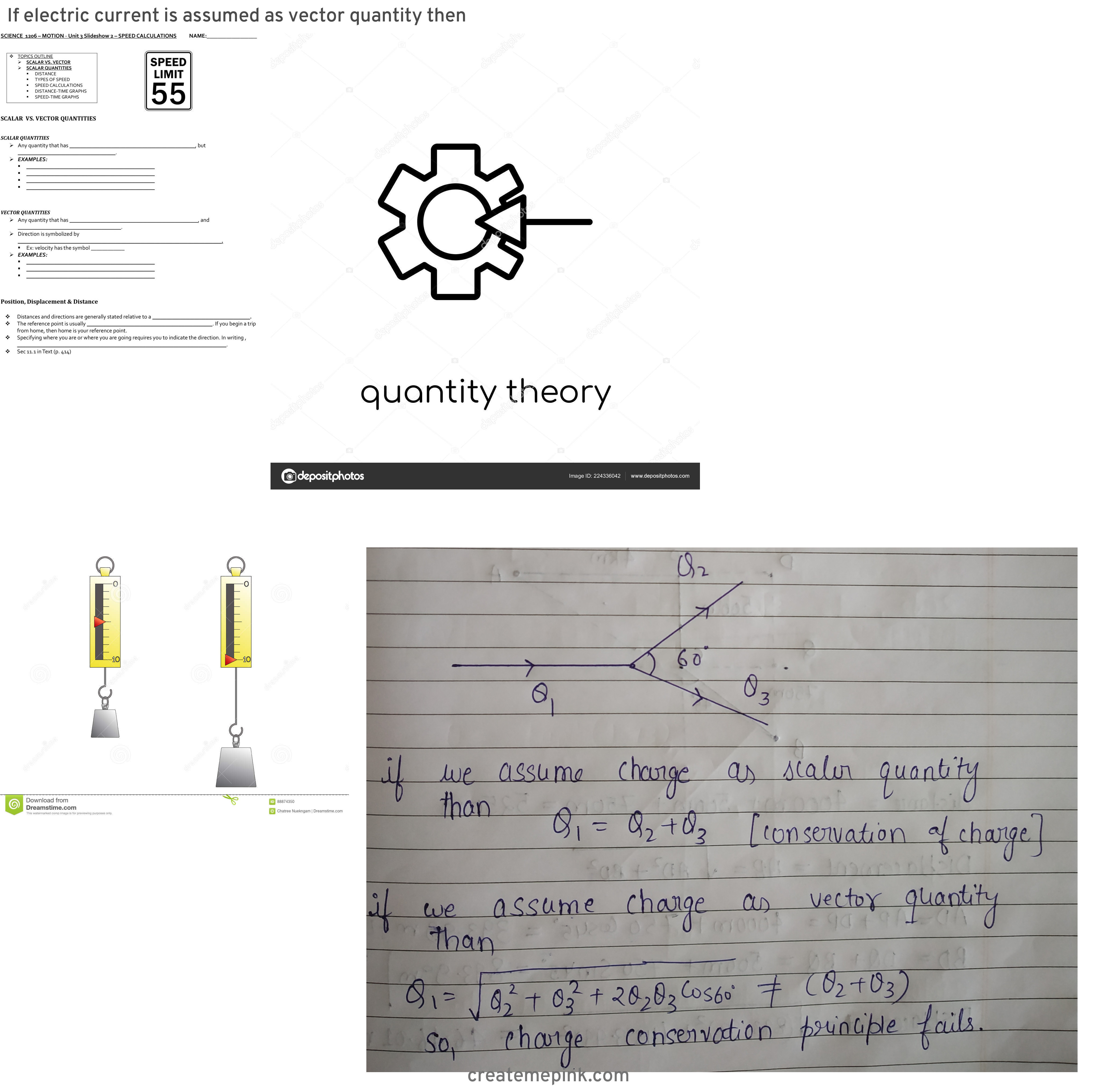 Vector Quantity: If Electric Current Is Assumed As Vector Quantity Then