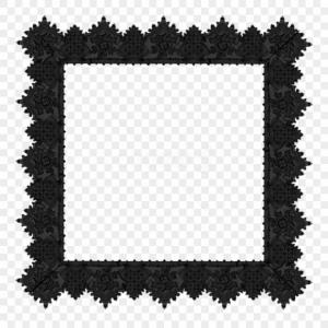 Lace Frame Corner Vector Transparent: Ihijirifree Png Best Stock Photos Black Lace Transparent