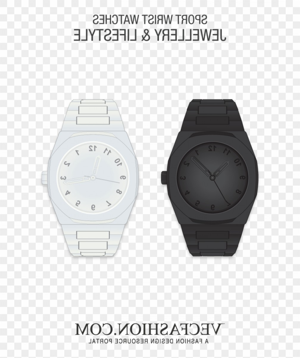Fancy Wrist Watch Vector: Ijrwowxlatest Vectors Tagged Analog Watch Hd Png Download