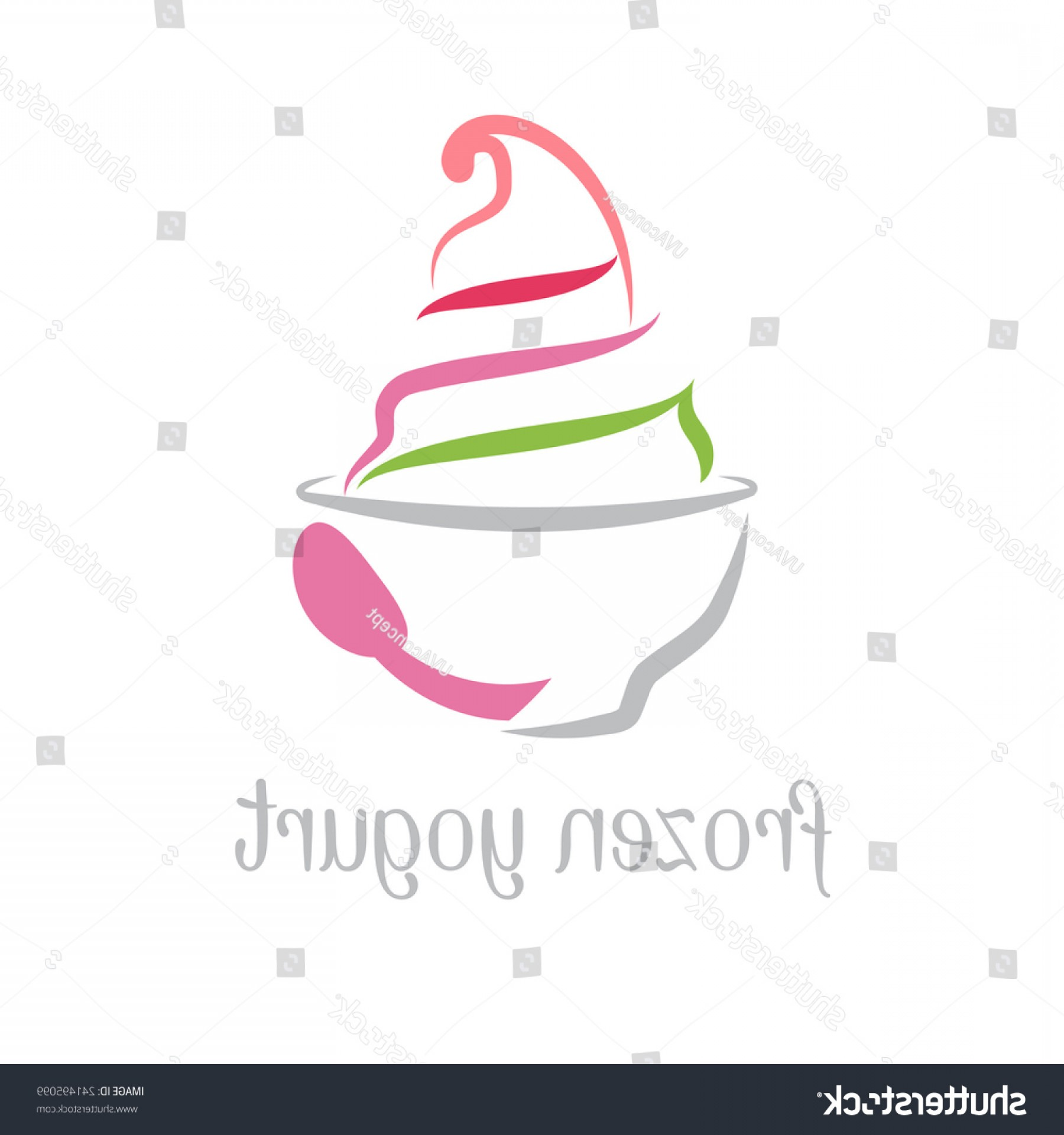 Yogurt Vector: Illustration Concept Frozen Yogurt Vector