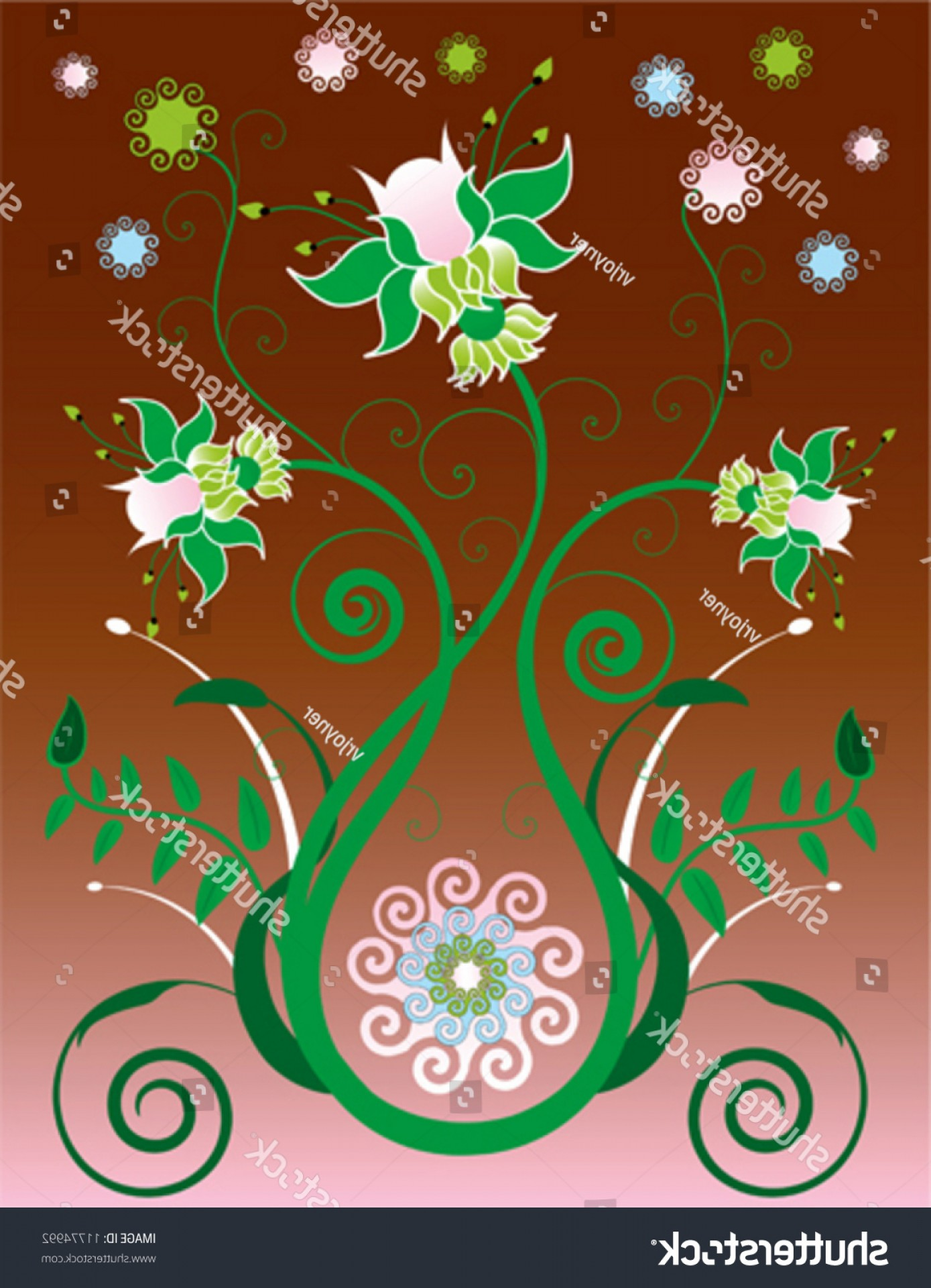 Illustrator Vector Format: Illustration Floral Background Designed Illustrator Vector
