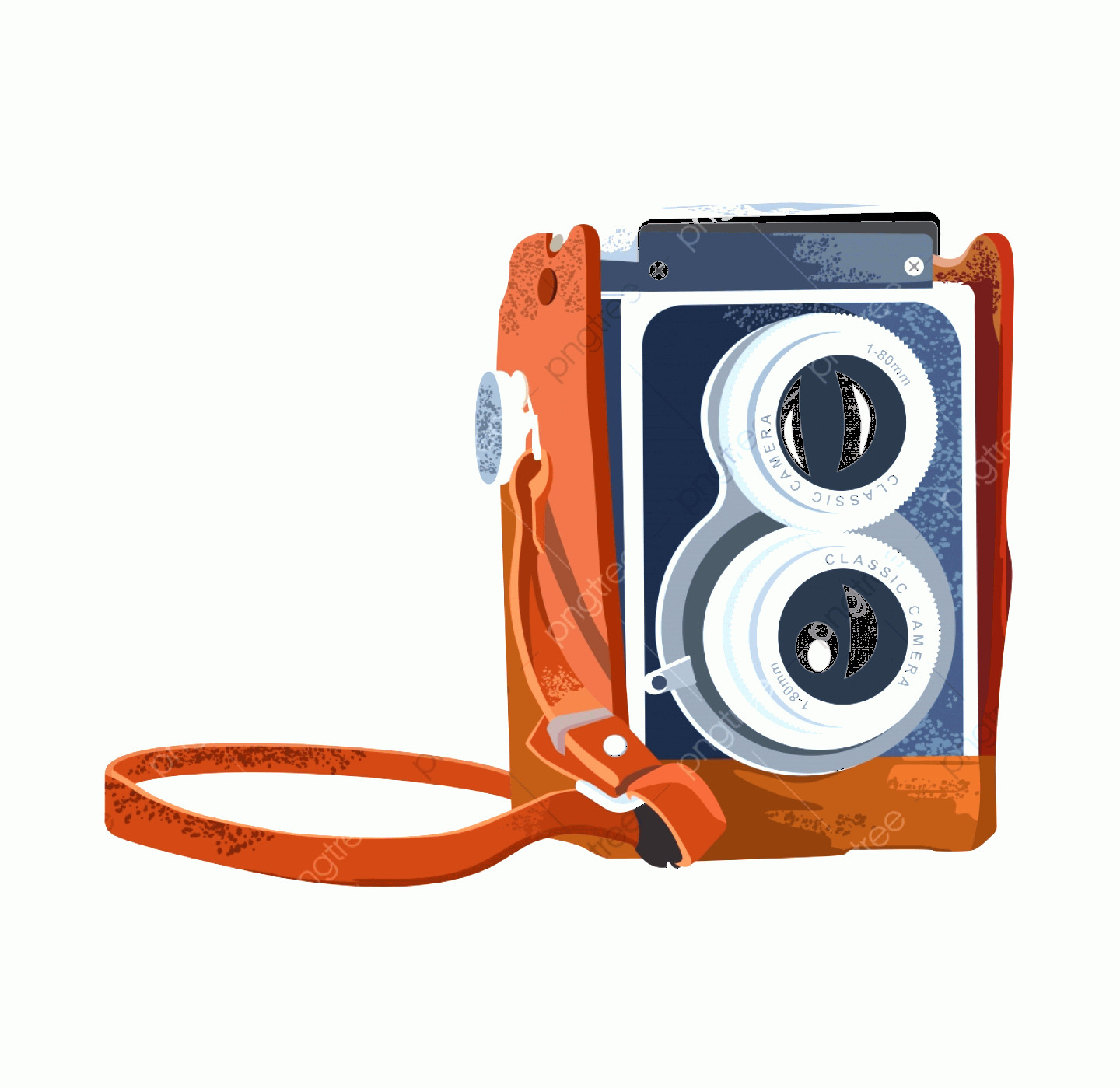 Classic Camera Vector: Illustration Of A Classic Camera With A Brown Casing Vector Illustration