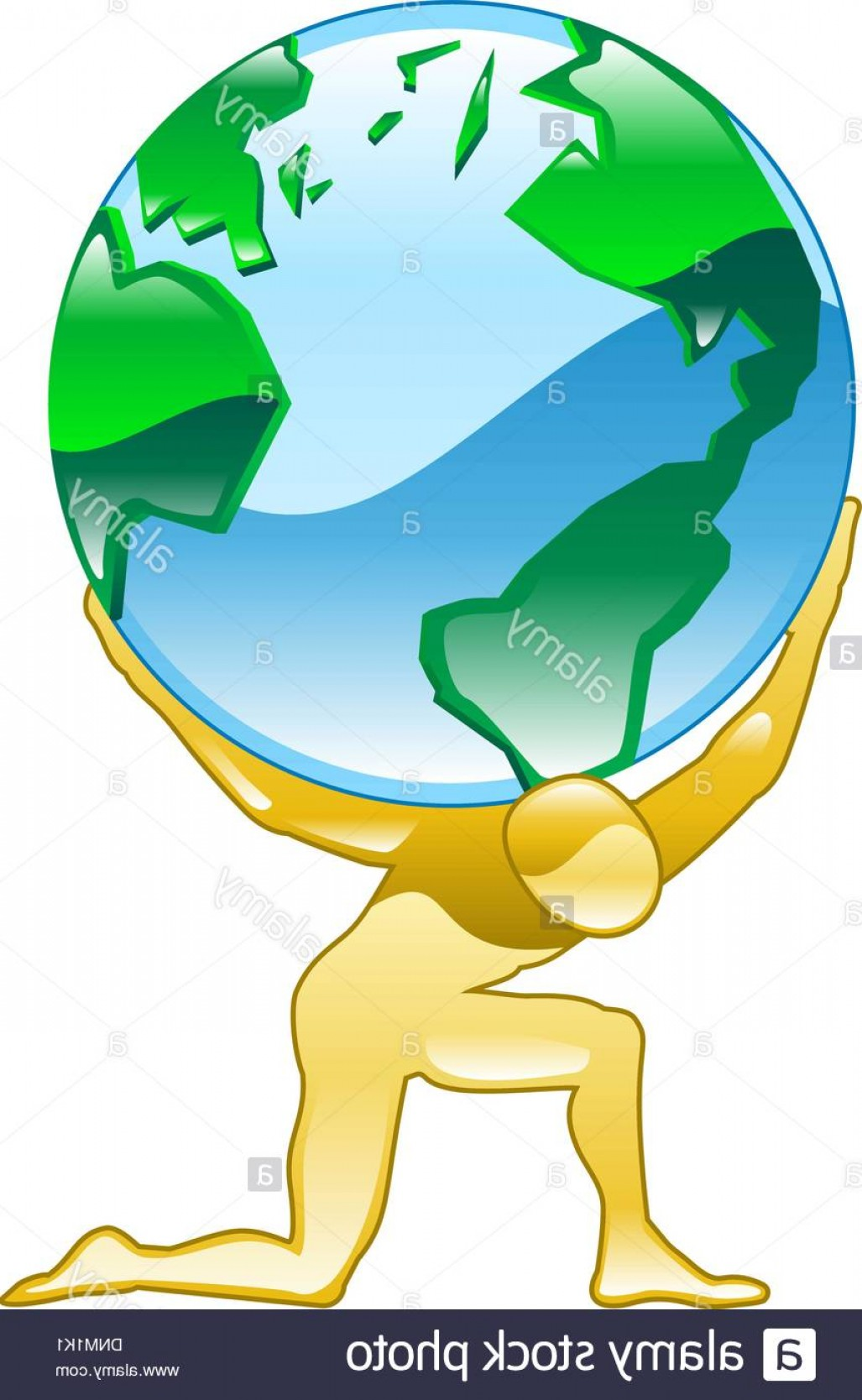 Vector Person Holding: Illustration Of A Person Holding World Globe Of The Earth Image