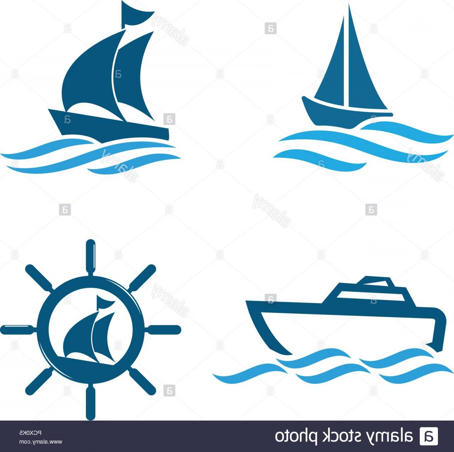 Boat Vector Art Graphics: Illustration Of Boat Graphic Design Template Vector Image