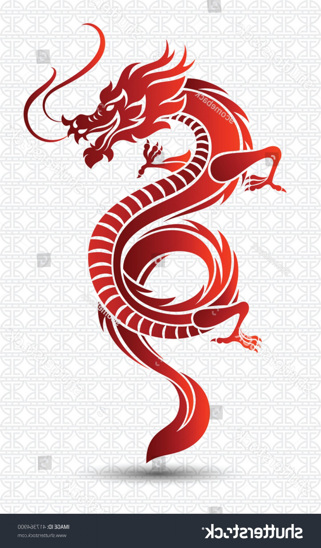 Oriental Dragon Vector: Illustration Traditional Chinese Dragon Vector
