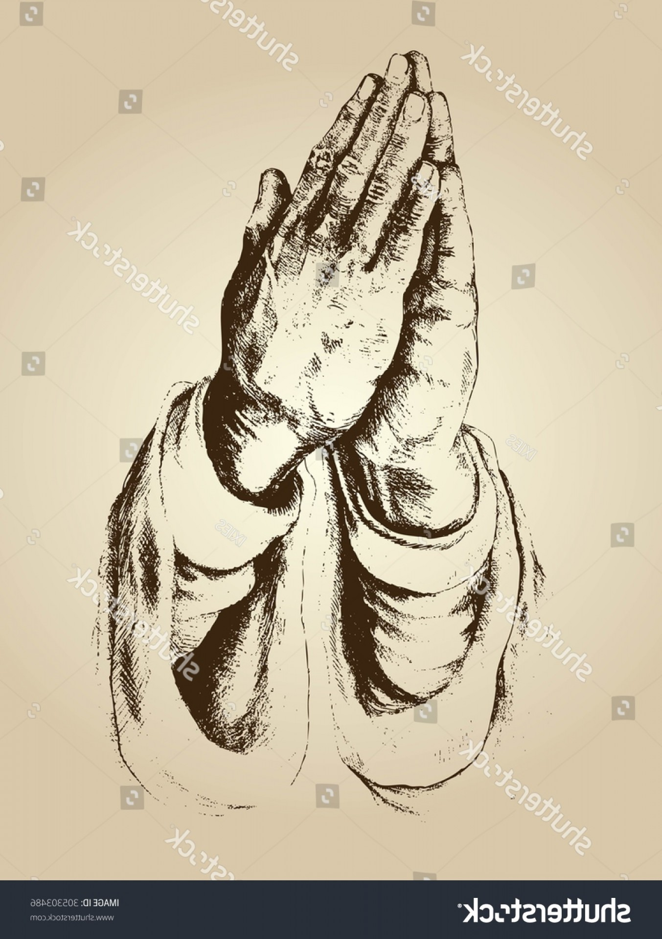 Praying Hands Vectors Shutterstock: Illustration Vector Praying Hands Faith