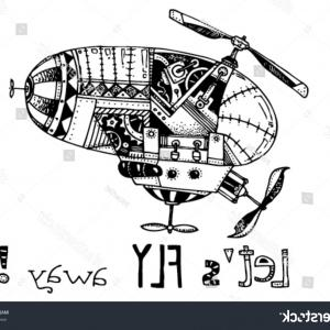 Vector Fly Machines: Airplane Fly Machine Spitfire Aircraft Silhouette Icon Isolated World War Ii Supermarine Vehicle Image