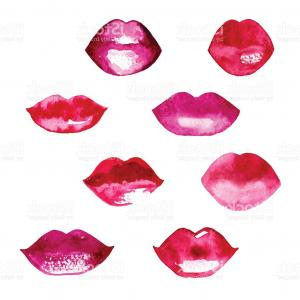 Painting Of Lips Vector: Fashion Blogger Beautiful Card Poster For Web Vector Typography Poster On Pink Gm