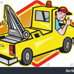 Tow Chain Vector: Illustration Tow Truck Wrecker Driver Thumb
