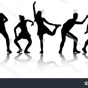 Sillouhette Vector Group: Photostock Vector Group Of Bicyclists In Race Riding A Bicycle Isolated Against White Background Silhouette Vector Ill