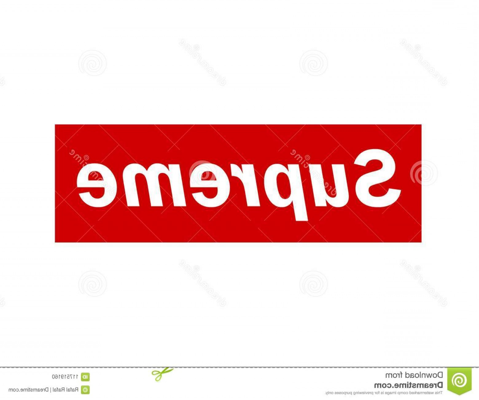 Supreme Logo Vector: Image Red Well Known Supreme Logo Isolated White Background Image