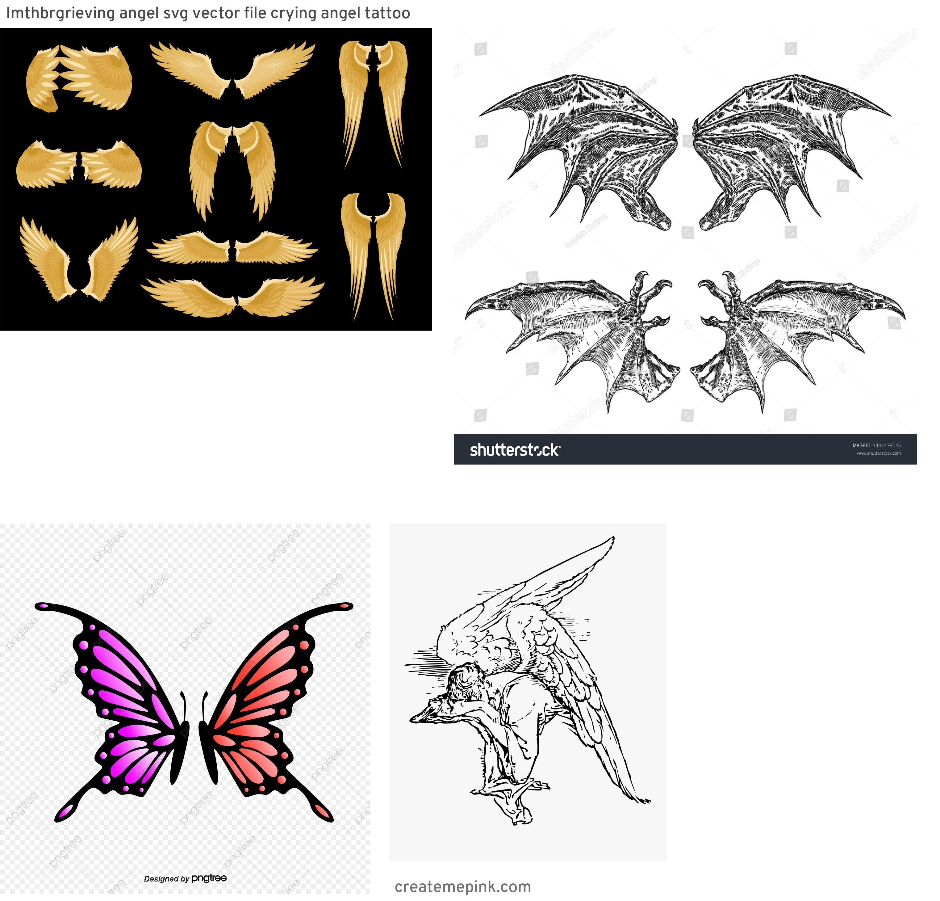 Fallen Angel Wings Vector: Imthbrgrieving Angel Svg Vector File Crying Angel Tattoo