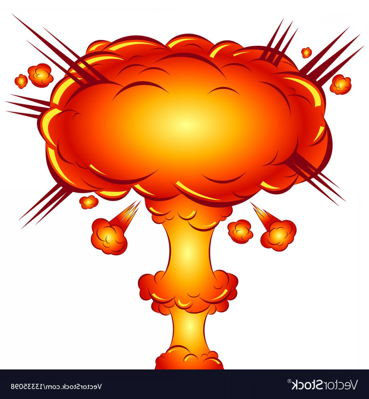 Atomic Bomb Explosion Vector: In The Style Of A Comic Explosion The Atomic Bomb Vector