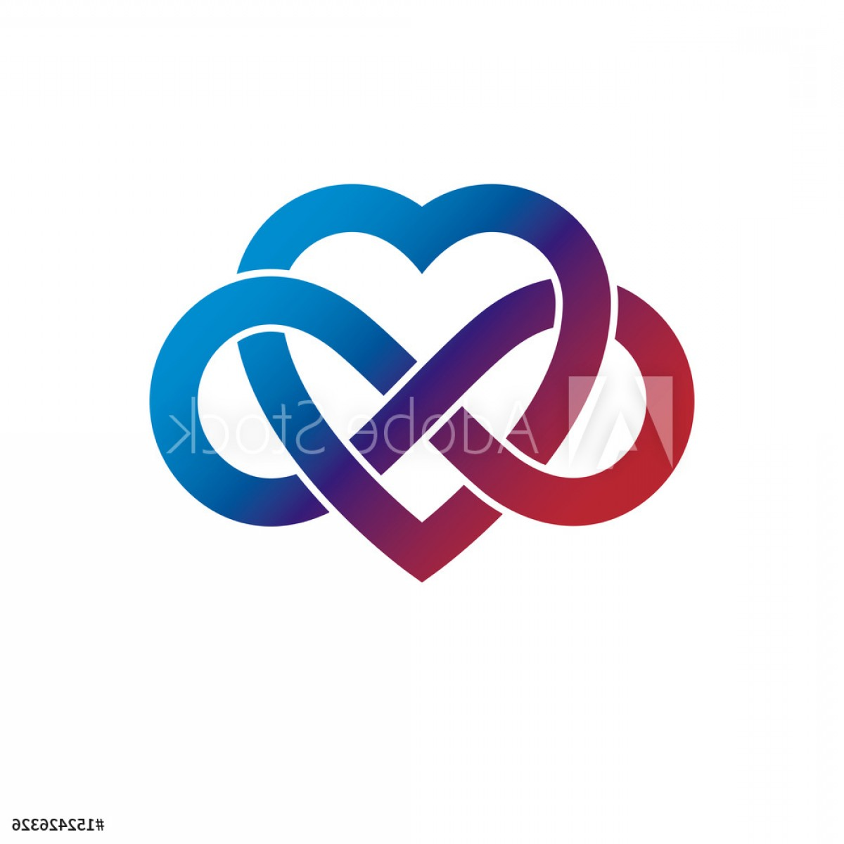 Vector Infinity Symbol Hearts: Infinite Love Concept Vector Symbol Created With Infinity Loop Sign And Heart F