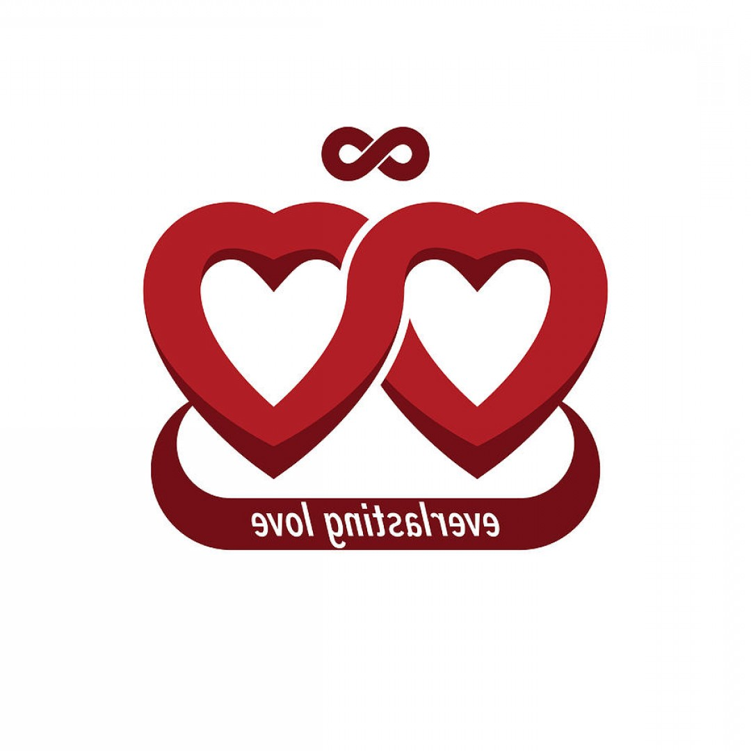Vector Infinity Symbol Hearts: Infinite Love Concept Vector Symbol Created With Infinity Loop Sign And Heart Sylverarts