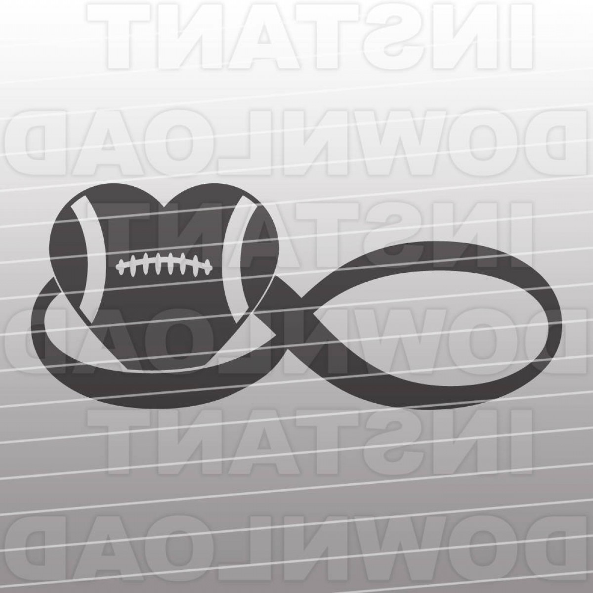 Love Infinity Symbol SVG Vector: Infinity Love Football Svg File Vector