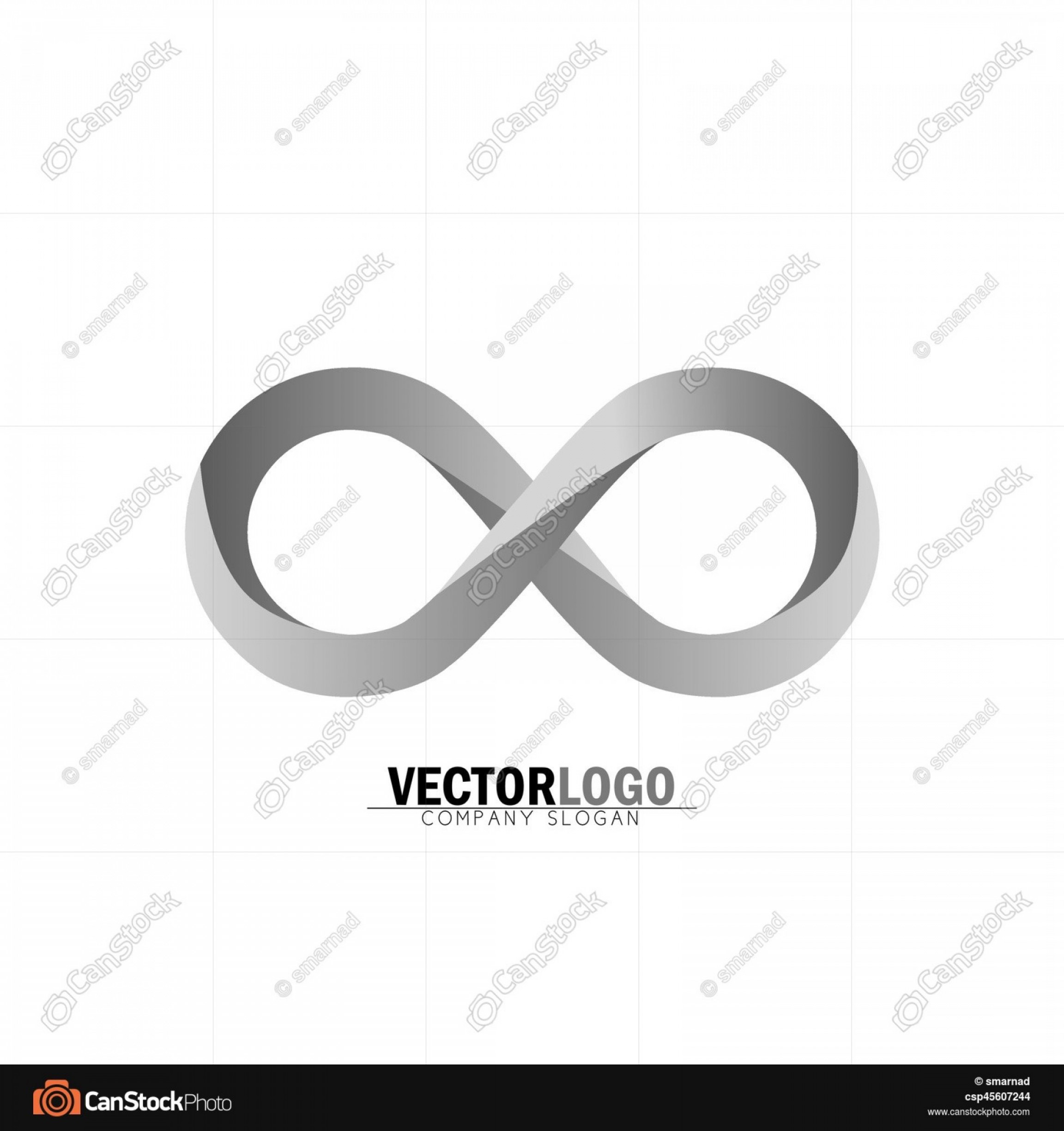 Love Infinity Symbol SVG Vector: Infinity Or Infinite Symbol In Grey