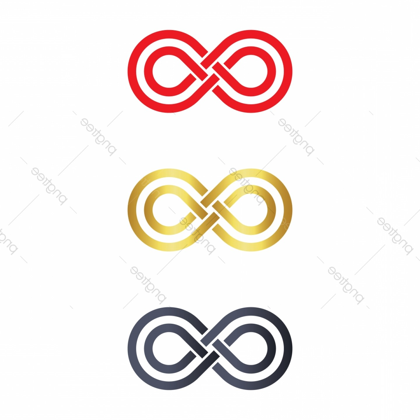 Vector Infinity Symbol Hearts: Infinity Symbol Logo Icons Vector Illustration