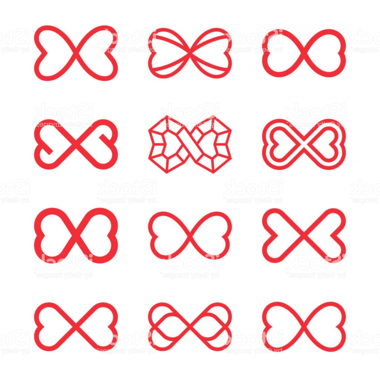 Vector Infinity Symbol Hearts: Infinity Symbol With Two Hearts Endless Love Gm