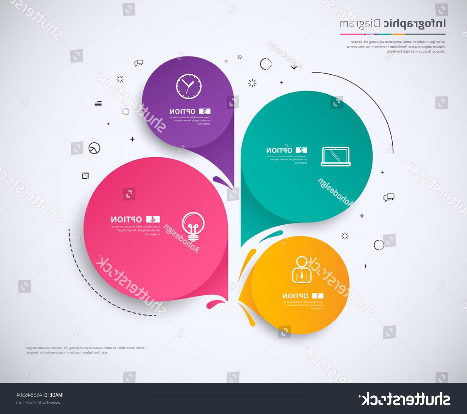 Vector Round Name List: Infographic Template Design Choice Circle