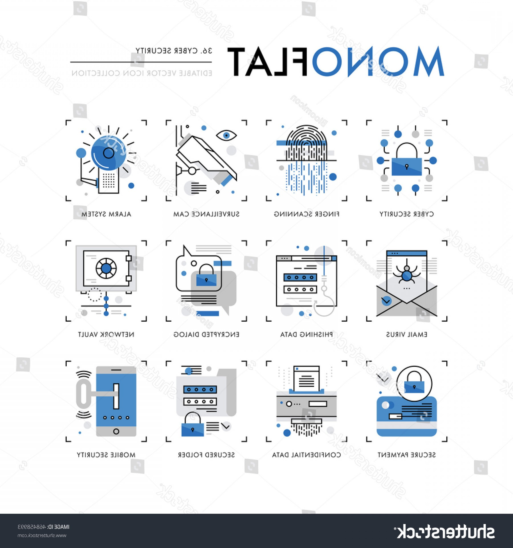 Cyber Defense Vector: Infographics Icons Collection Cyber Security Internet