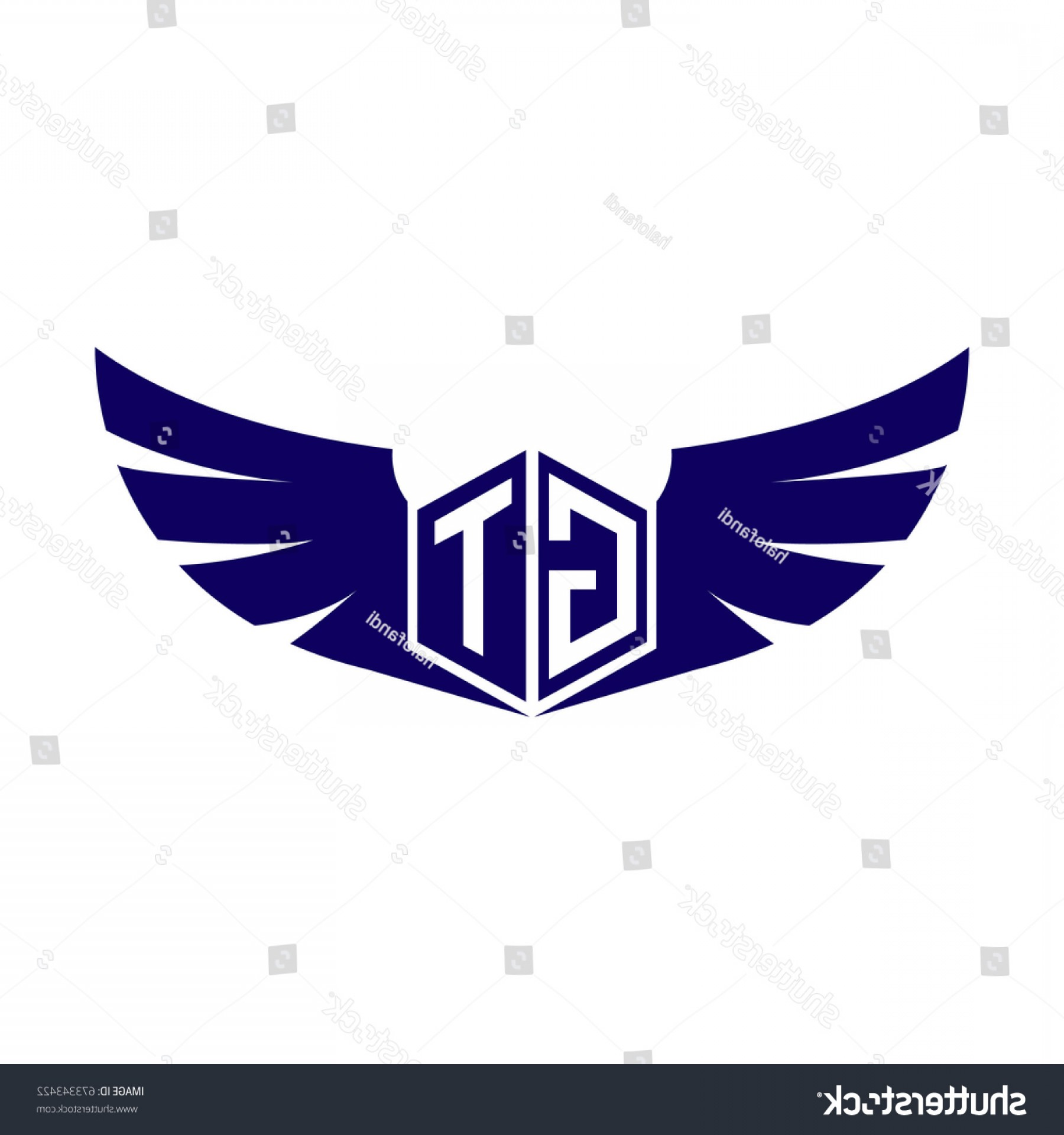 Georgia Tech GT Logo Vector: Initial Letter Gt Logo Wings Icon