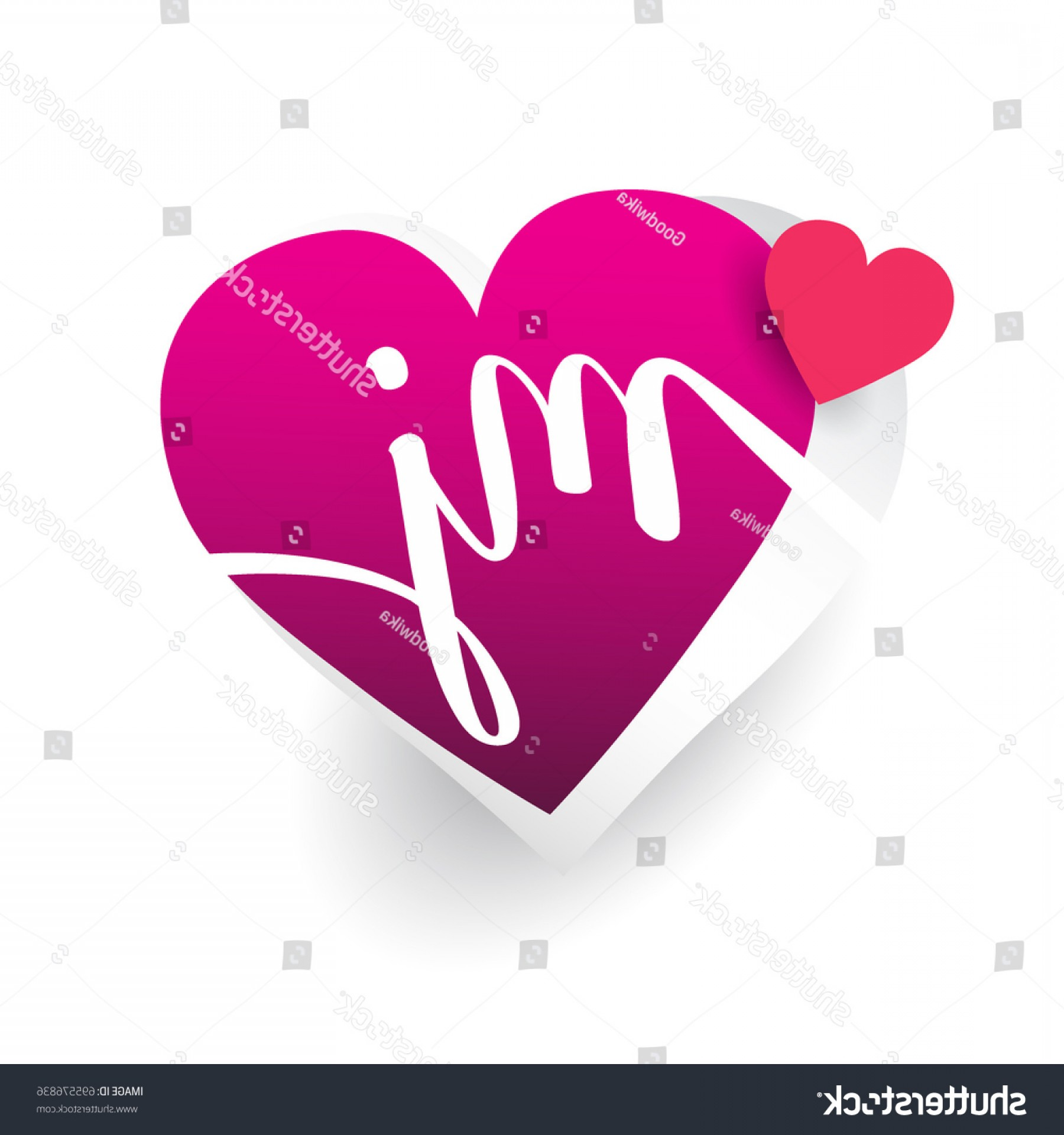 Love M J Vector: Initial Logo Letter Mj Heart Shape