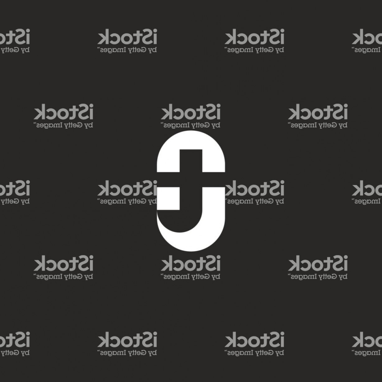 Black And White Negative Vector: Initials Ot Letters Icon Negative Space Black And White Style Two Marks T O Together Gm