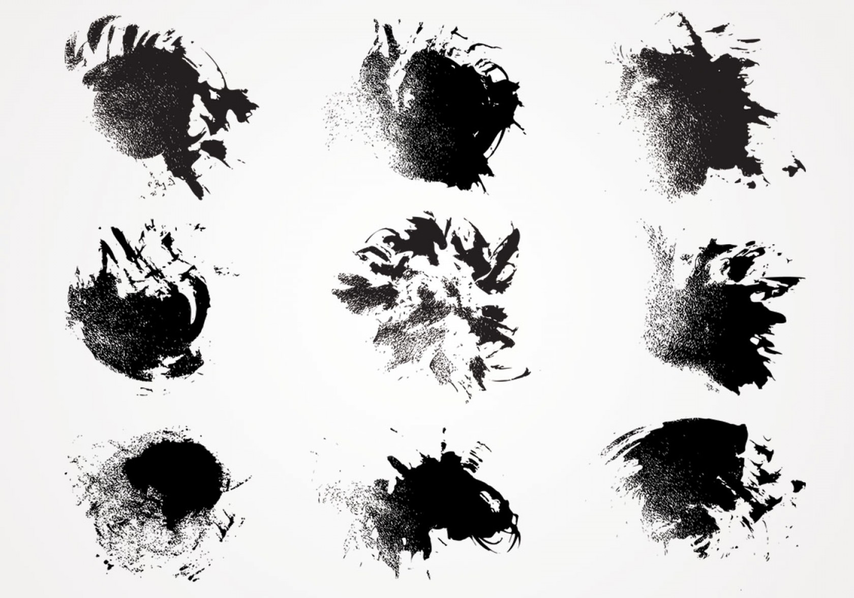 Grime Vector Pack: Ink Paint Texture Vector Pack