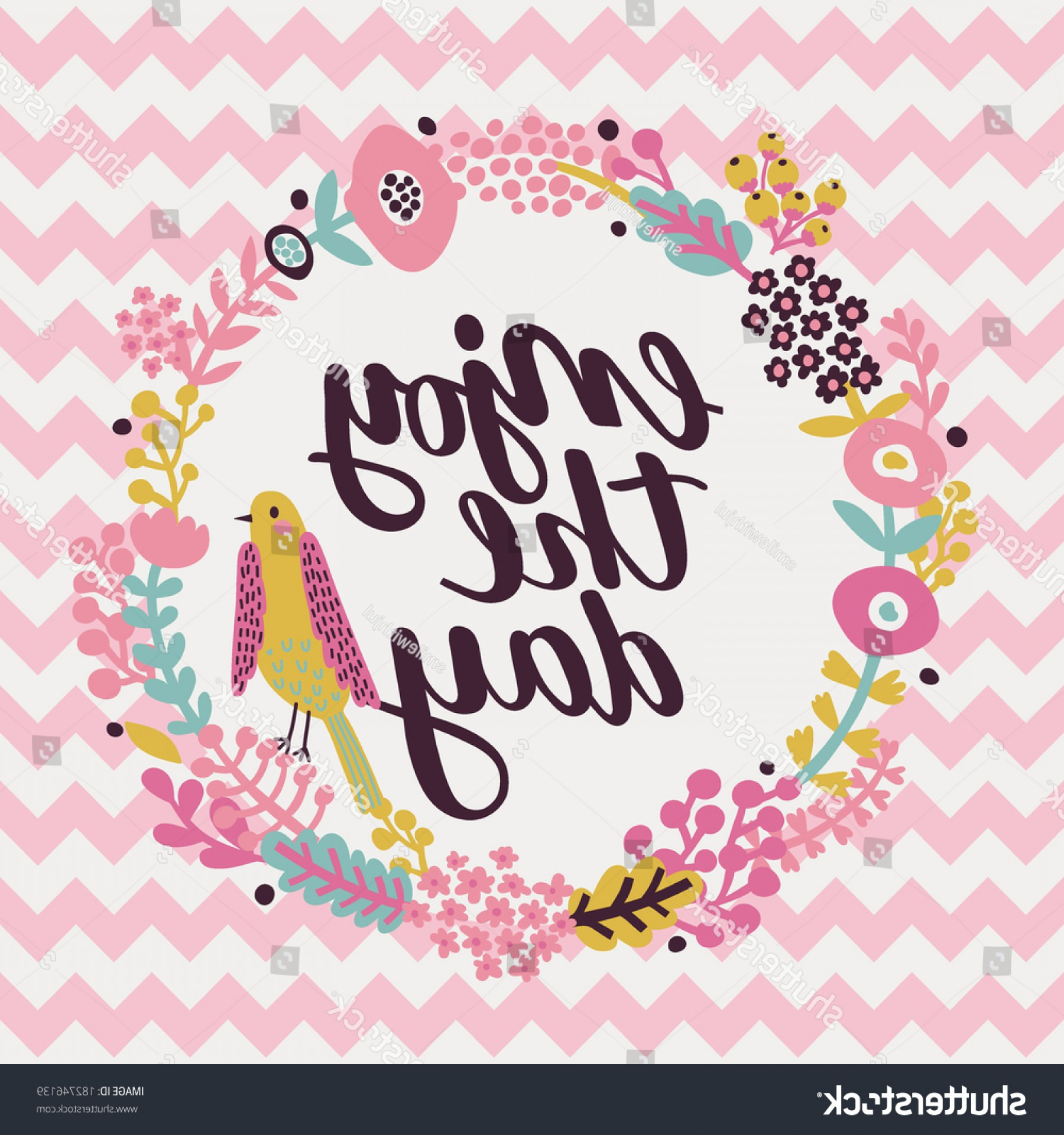 Inspirational Backgrounds Vector: Inspirational Motivational Quotes Background Bright Floral