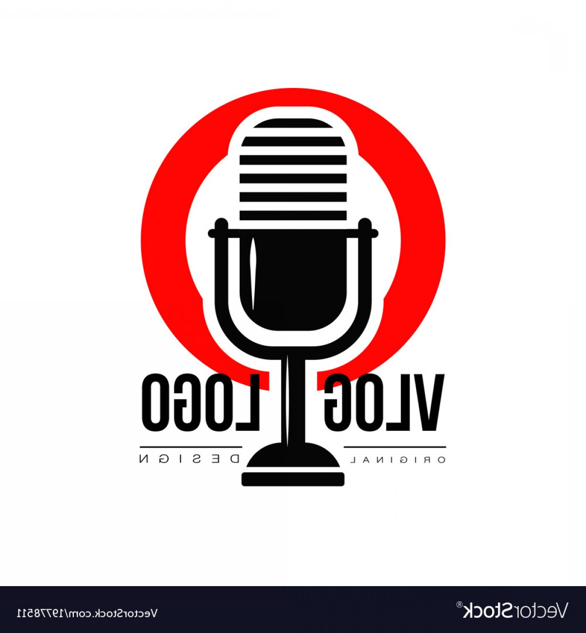 YouTube RedVector Real Life: Interesting Logo With Retro Microphone And Red Vector