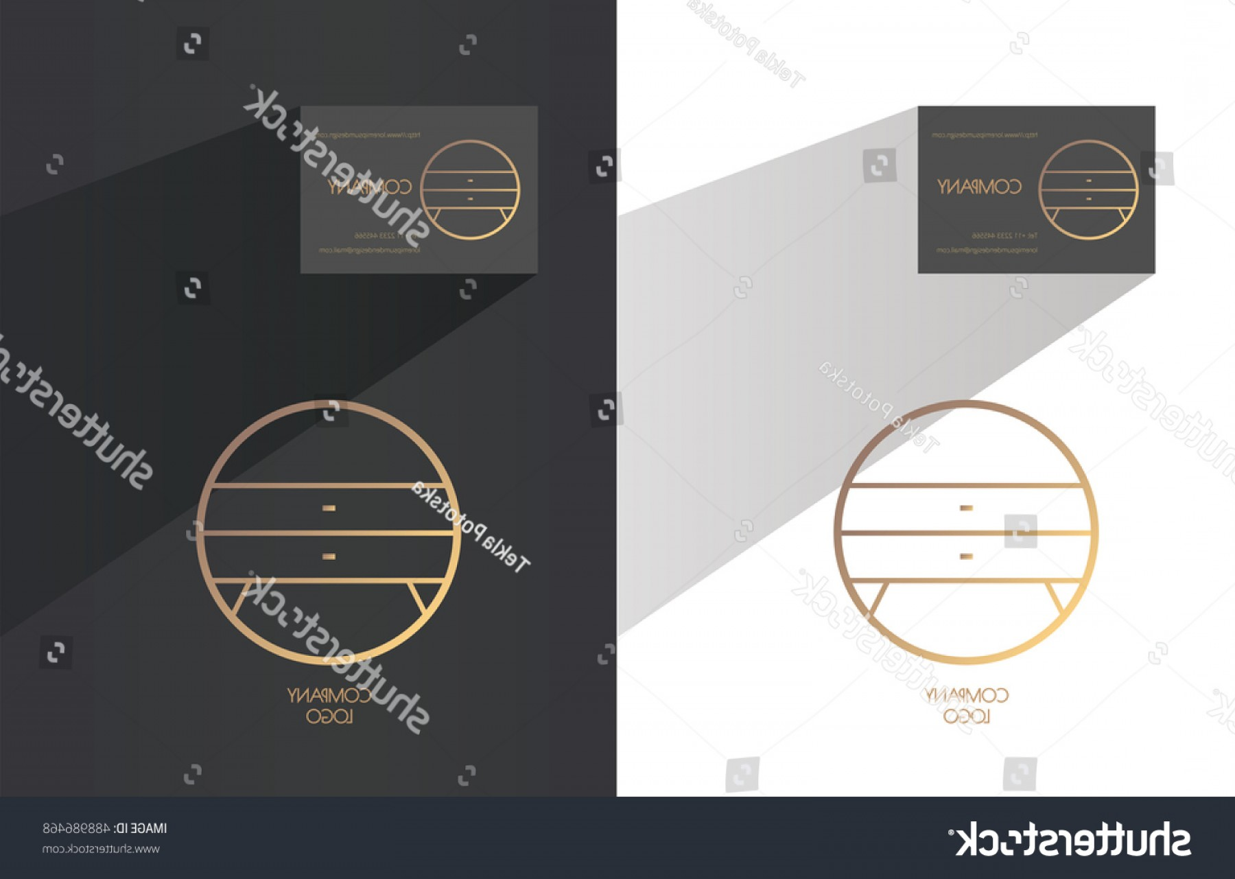 D Night Stanf Vector Graphic: Interior Designer Brand Identity Night Table
