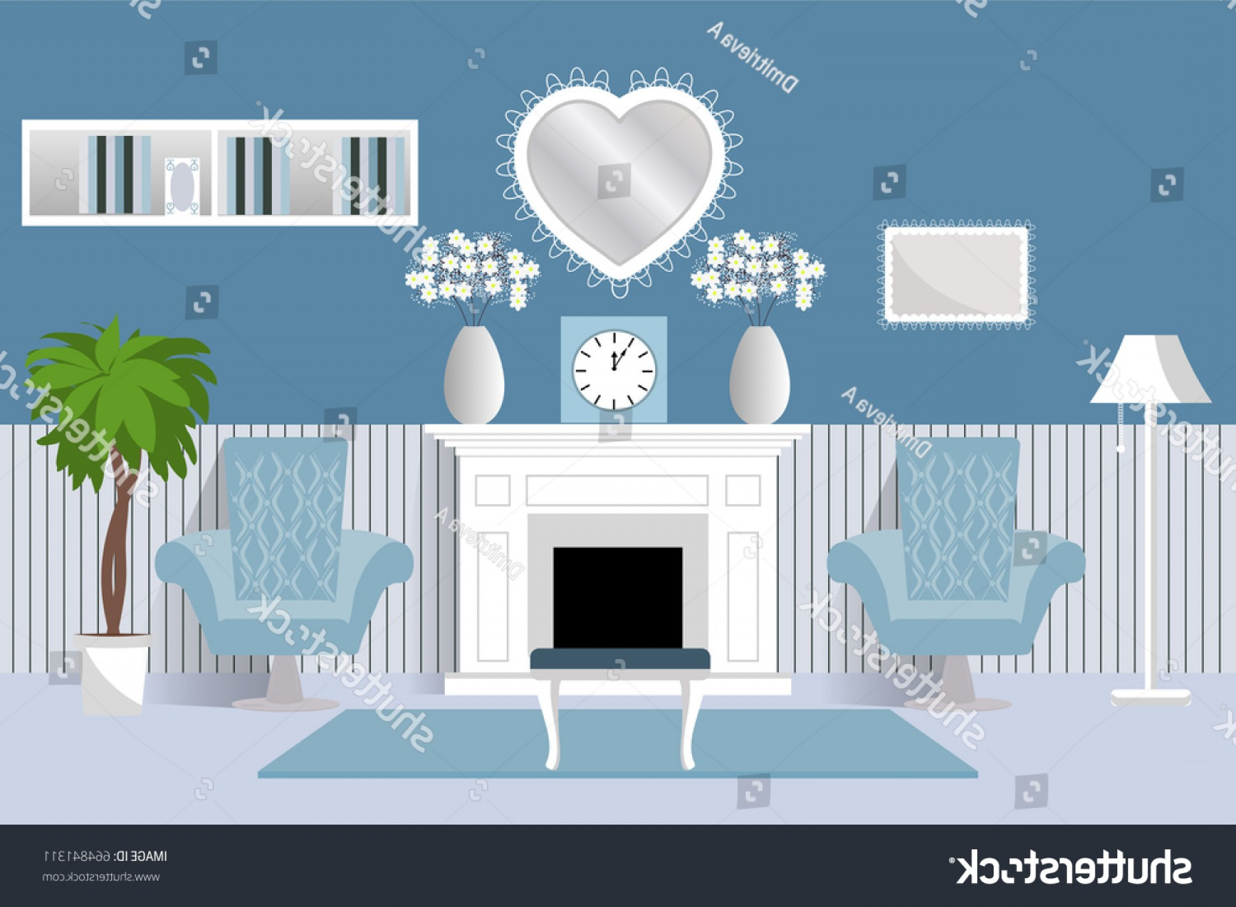 Vector Background For Living Room: Interior Room Vector Living Design Cartoon