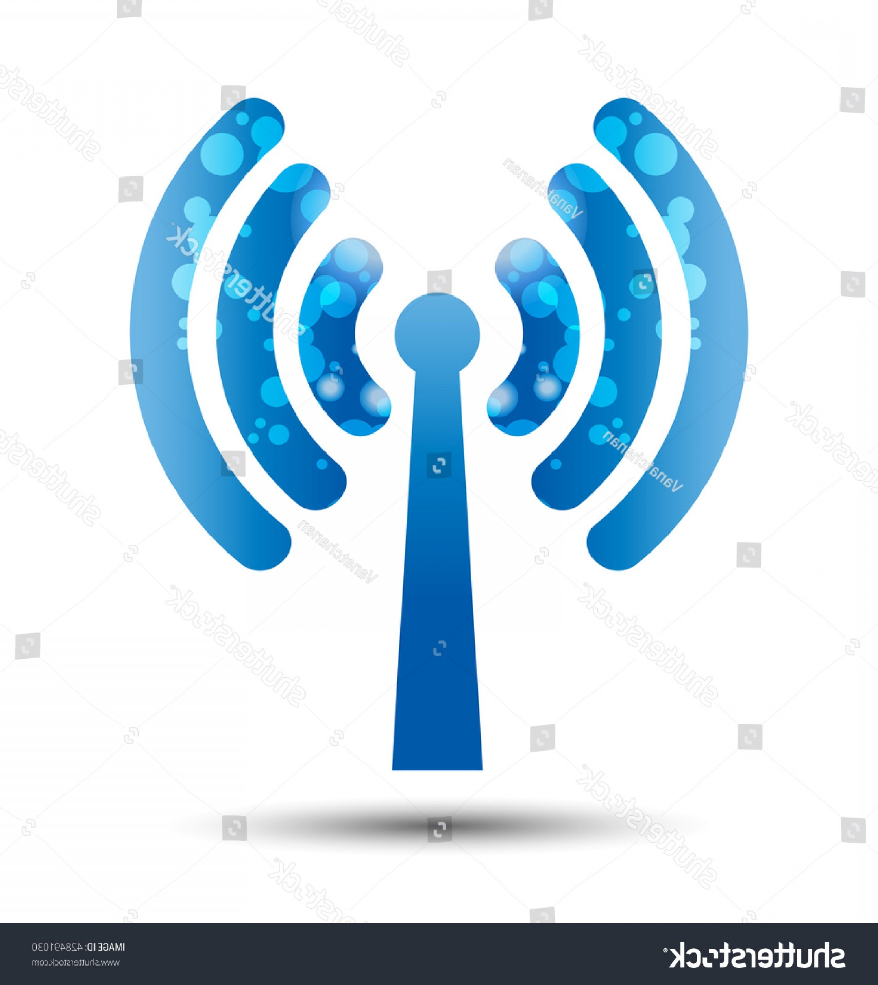 Wifi Symbol Clip Art Vector: Internet Wireless Technology Icon Wifi Symbol