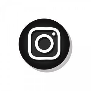 White Instagram Logo Vector: Instagram Icon In Black Circle Symbol Vectors