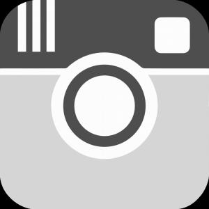 Black White Instagram Photo Camera Icon Vector | CreateMePink