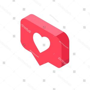Official Instagram Icon Vector: Instagram Like Isometric Icon Pink D