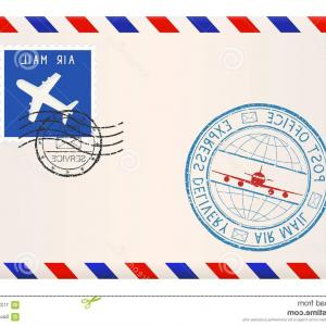 Vector Envelope Express: International Mail Envelope Express Delivery Stamp International Mail Envelope Express Delivery Stamp Vector Image