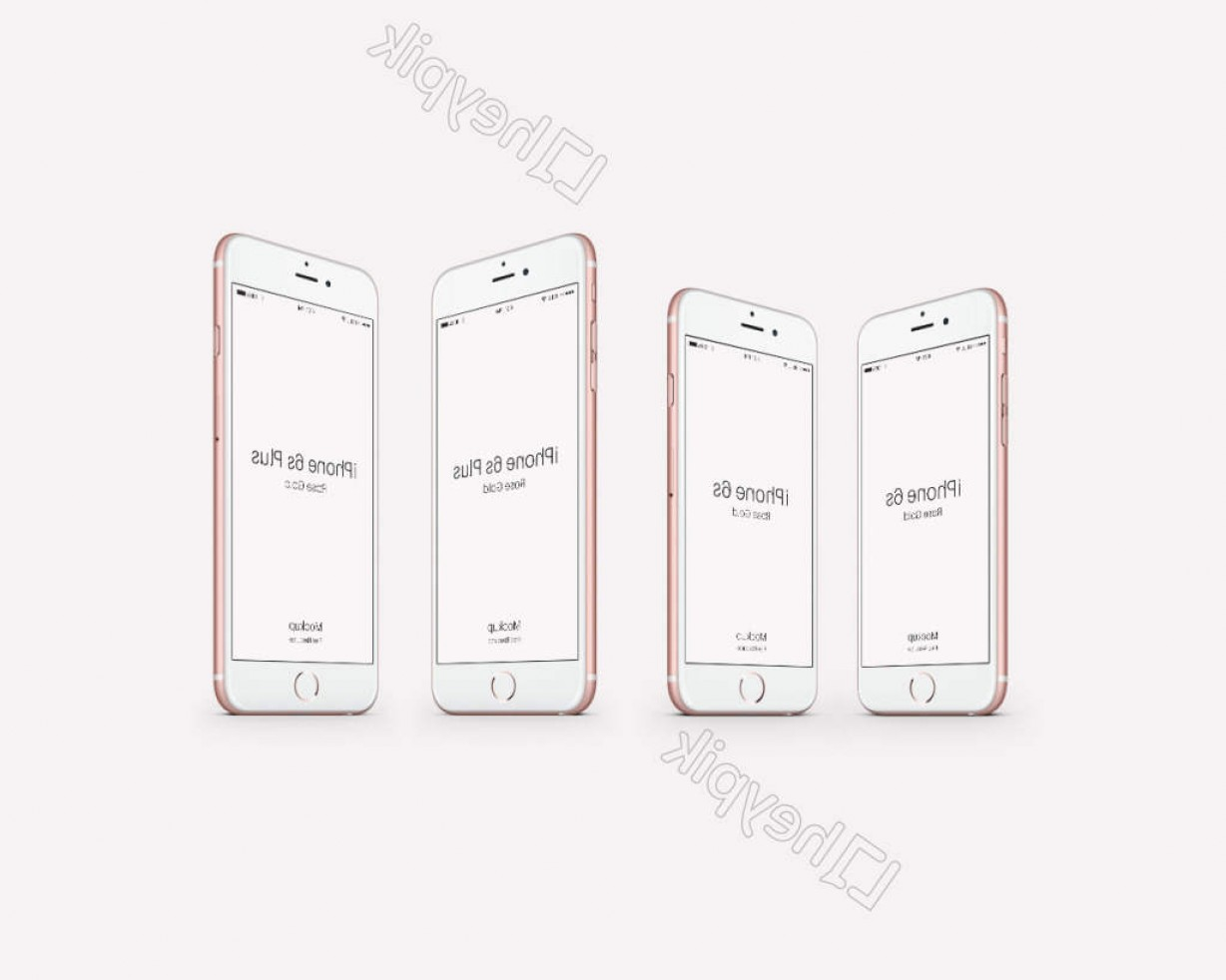 White IPhone Vector Png: Iphone S Psd Rose Gold Prototype