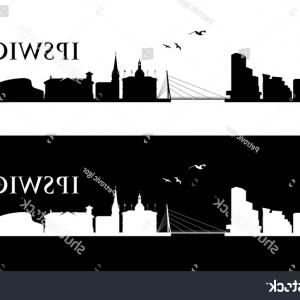 UK Skyline Vector: Cambridge Skyline In Orange Background Gm