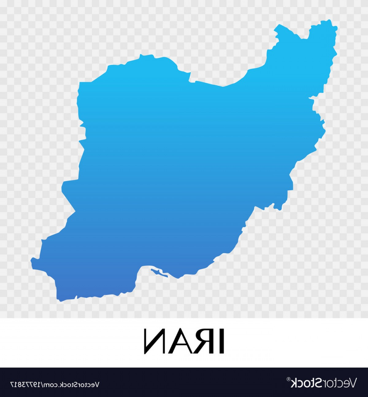 Iran Map Vector: Iran Map In Asia Continent Design Vector
