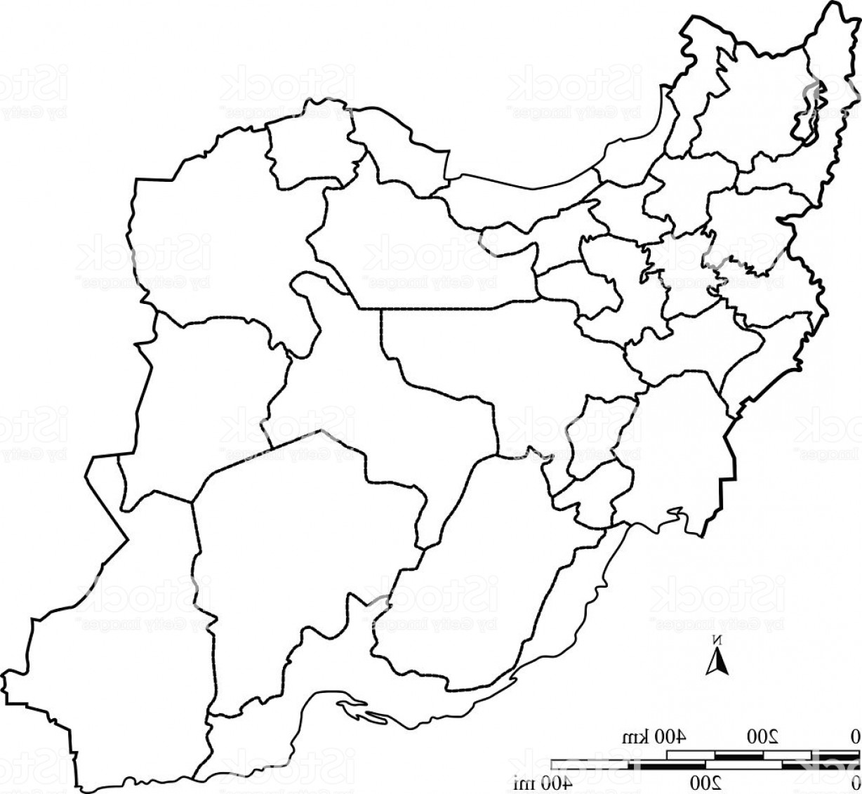 Iran Map Vector: Iran Map Outline Vector With Scales In A Blank Design Gm