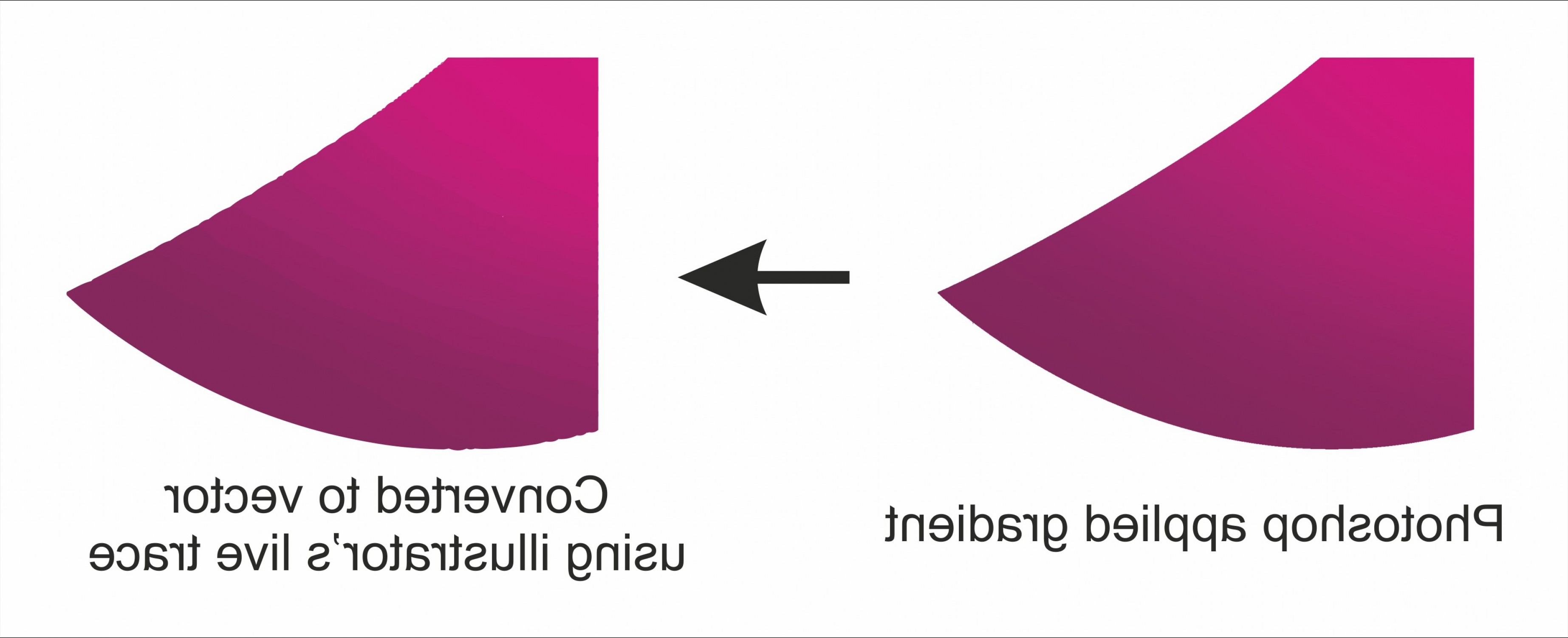 Convert Raster To Vector: Is There A Way To Convert A Gradient Made In Photoshop Into A Vector Mesh