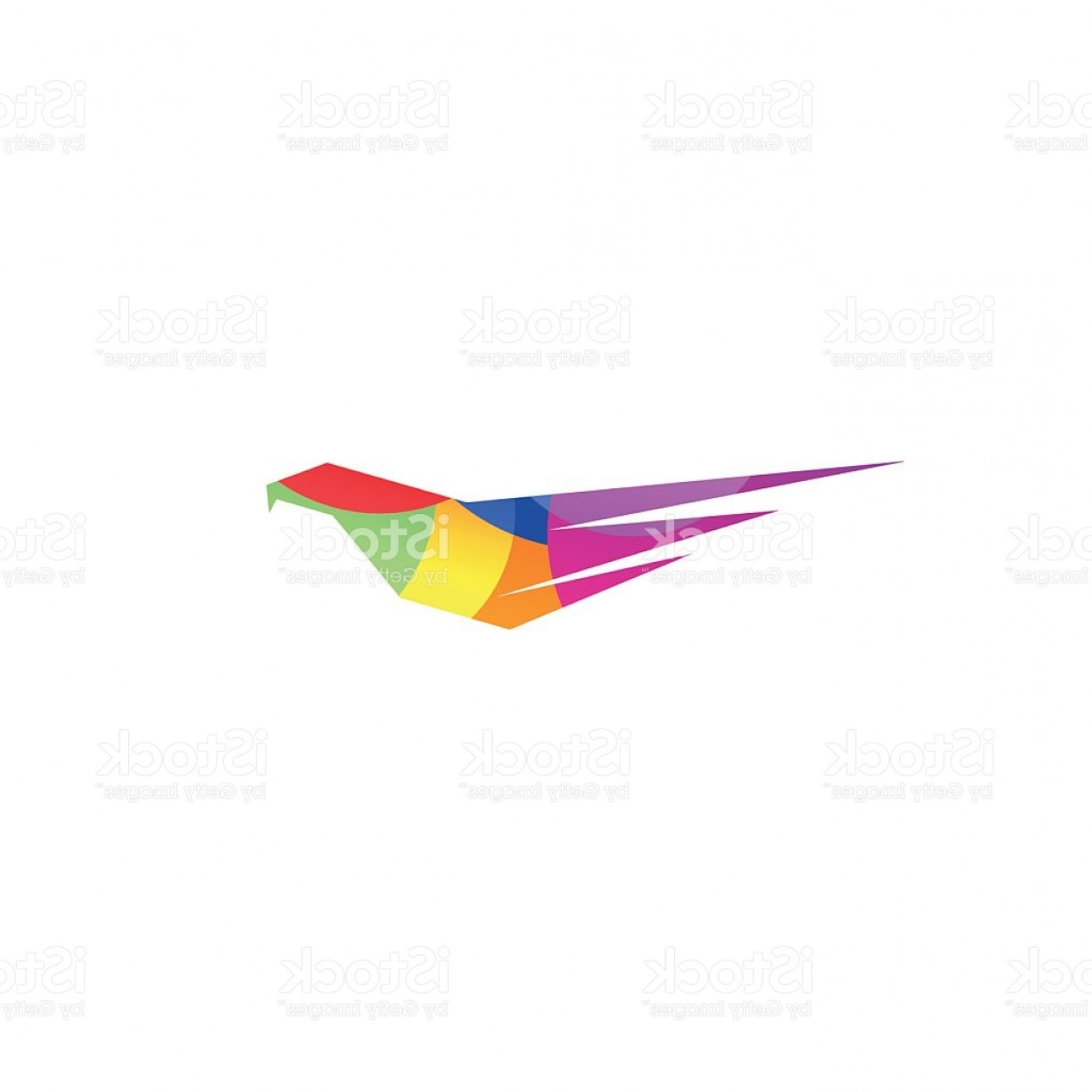 Falcon Wing Vector Art: Isolated Abstract Violet Color Eagle Hawk Of Falcon Silhouette Logo Gm