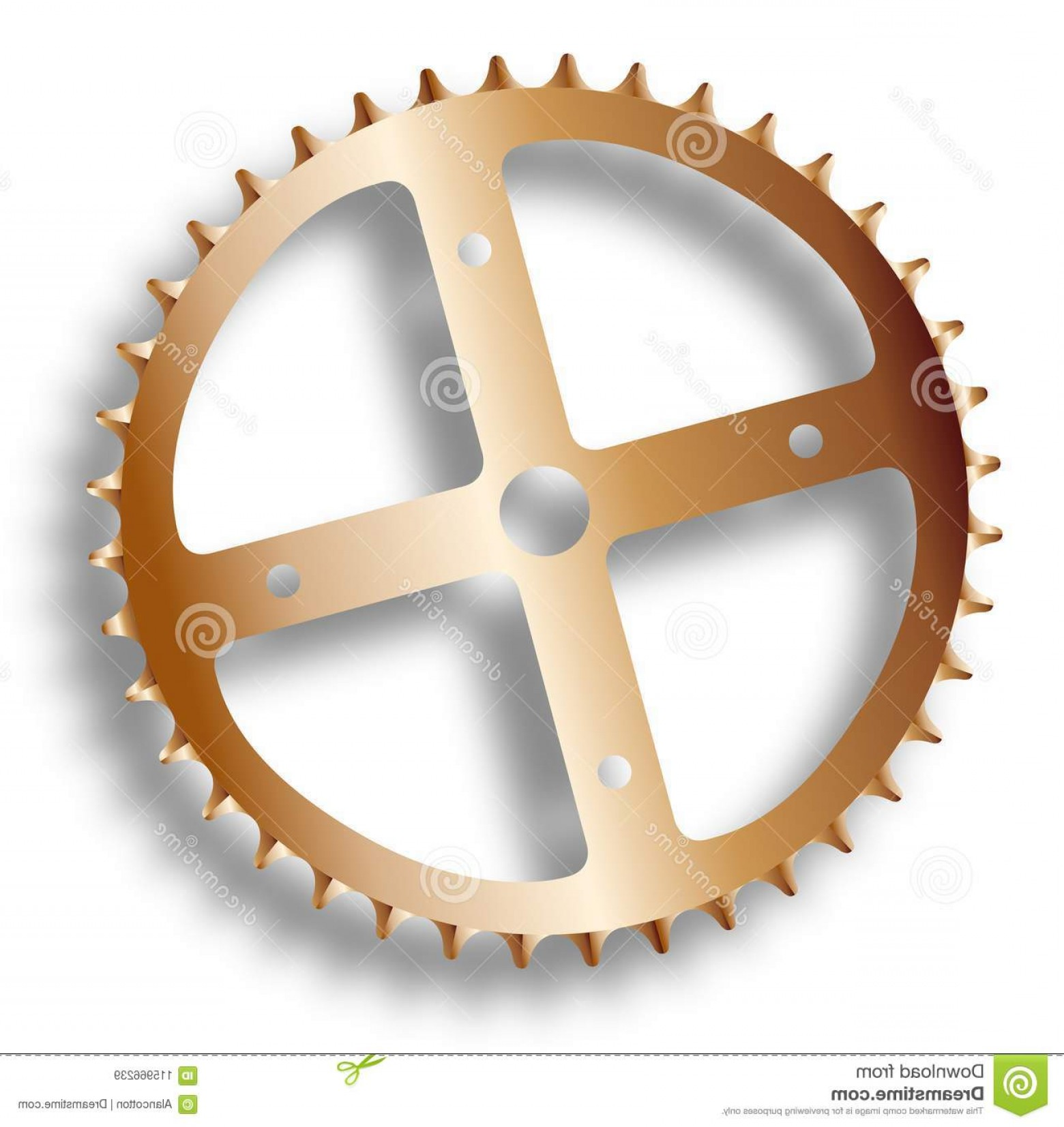 Bicycle Crank Vector Of Artwork: Isolated Bicycle Driving Cog Front Gearing Cog Bicycle Image