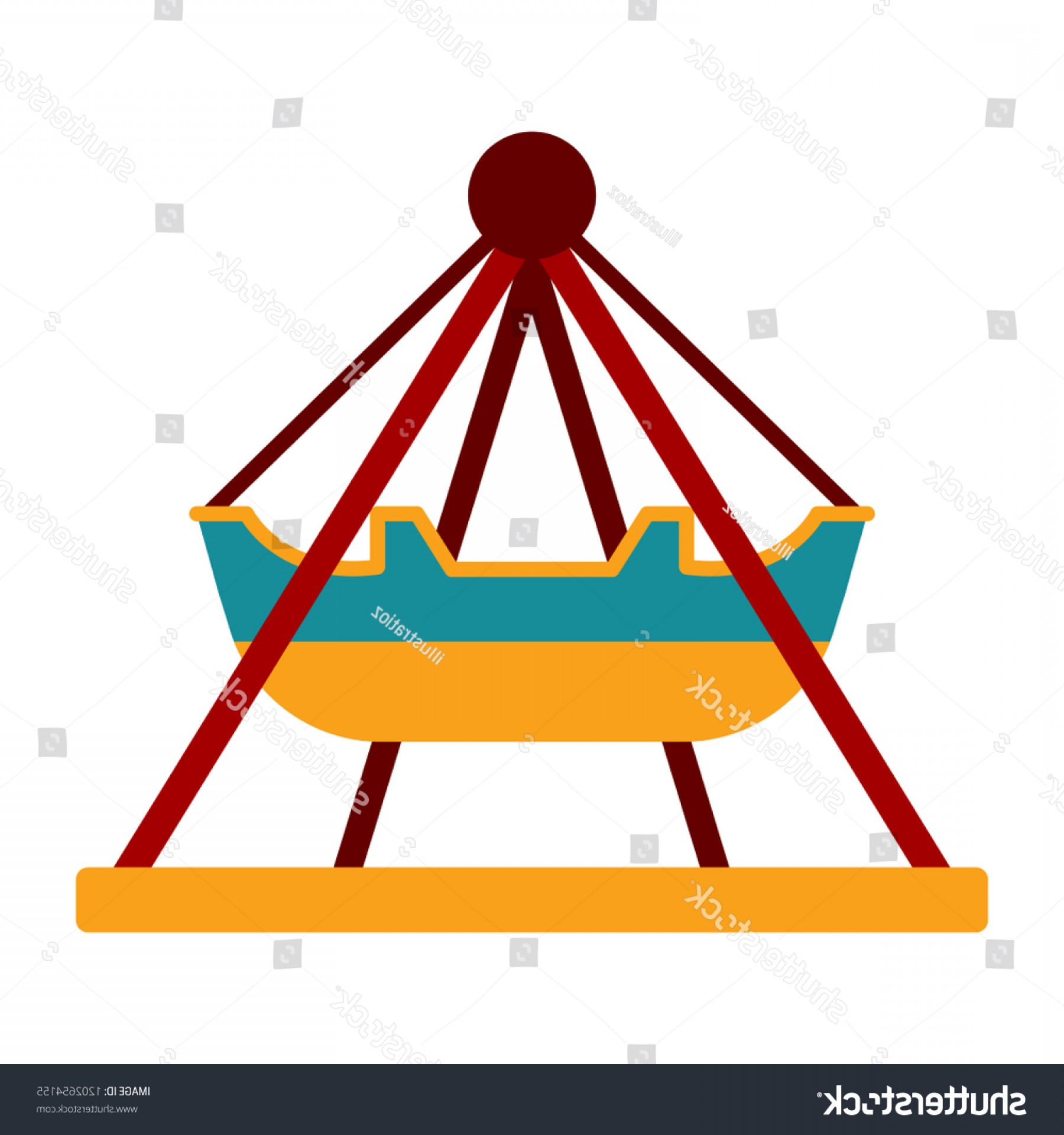 Attraction Icon Vector: Isolated Carnival Attraction Icon Vector Illustration