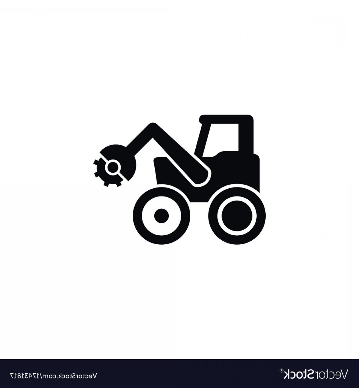 Free Tractor Vector: Isolated Combine Harvester Icon Tractor Vector